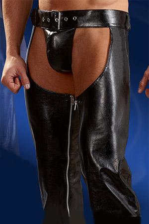 Pantalone Chaps con String Nero 4