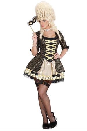 Costume Sexy Regina Barocca Nera 1