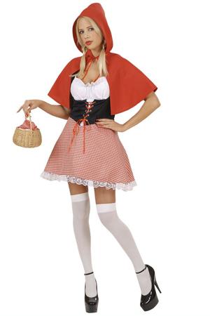Costume Sexy Mantellino Rosso