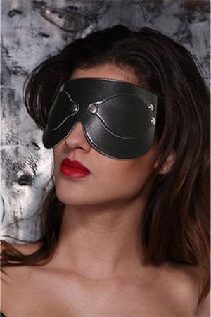 BDSM Maschera con Paraocchi nera