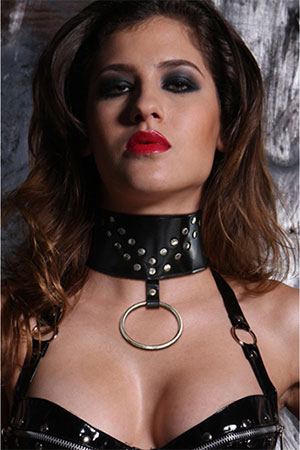 BDSM Collare in pelle Neck Nero 1