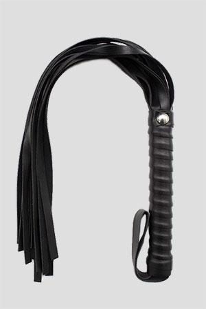 Bdsm Frusta Mini Whip a Frange 48cm Nera