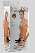 Fallo Indossabile Hollow Strap-On Double Penetrator Nero 17cm