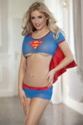 Costume Sexy SuperGirl 3Pz